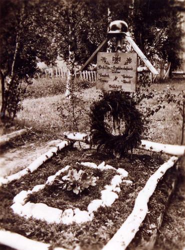 Graven til Zmölnig, Krump, Meindl, Roislechner, som falt ved Storbjørnvatn 10. mai 1940