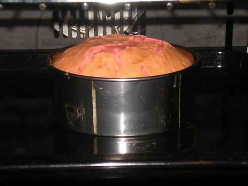 Baking strawberry sweet cake- Mari