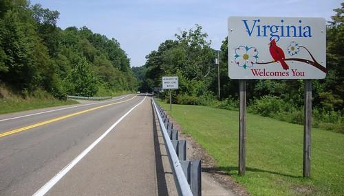 virginia statesigns landscapes statewelcomesigns graysoncounty southwestvirginia va northamerica unitedstates us