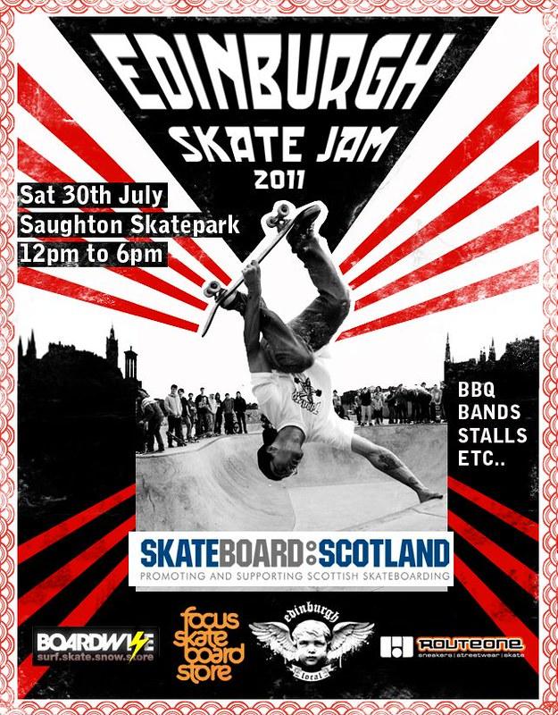 Edinburgh Saughton Park Skate Jam 2011