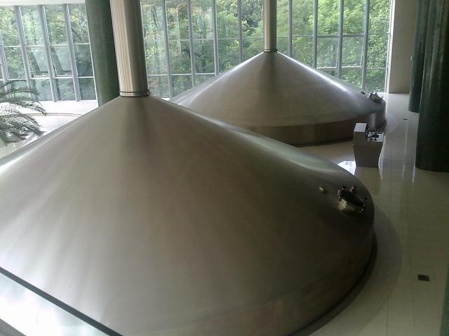 Inside the Pilsner Urquell Brewery