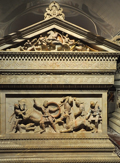 One short side of the Alexander Sarcophagus, Istanbul Archaeological Museum