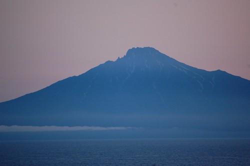sunset japan volcano hokkaido rishiri sarobetsu