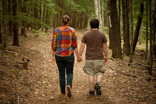 Eliza & Mike Walking in the Woods | by goingslowly