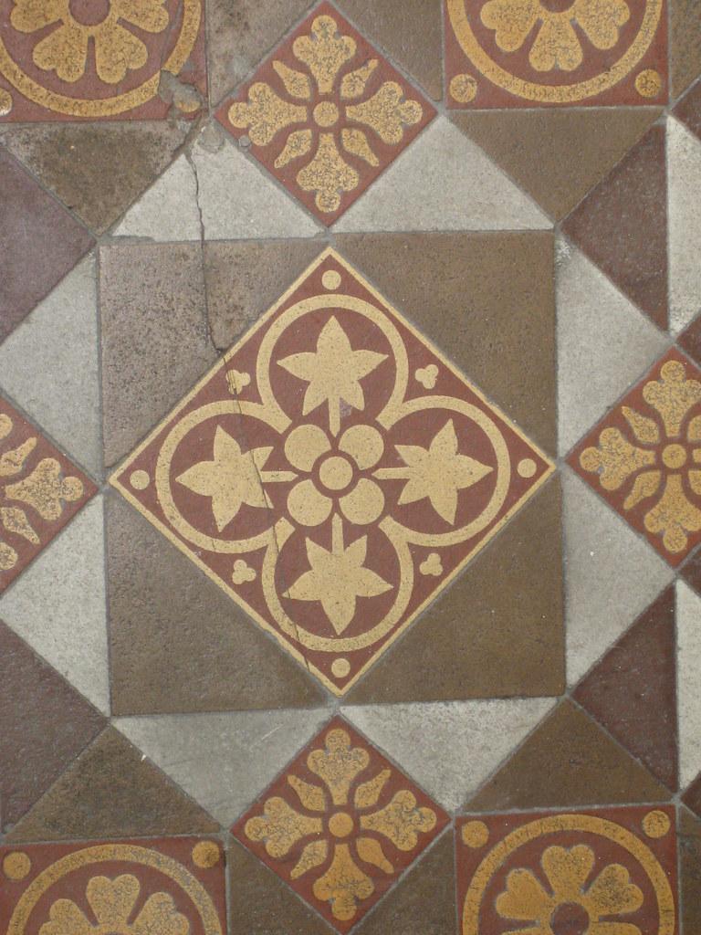 Ornately Patterned Victorian Porch Tiles Of Yooralbyn A Flickr