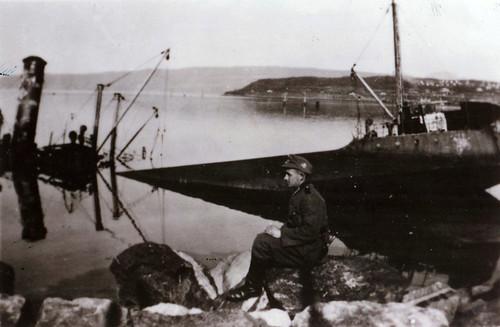 Skipsvrak etter kampene i Narvik