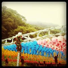 Lanternes au sommet de Seokguram