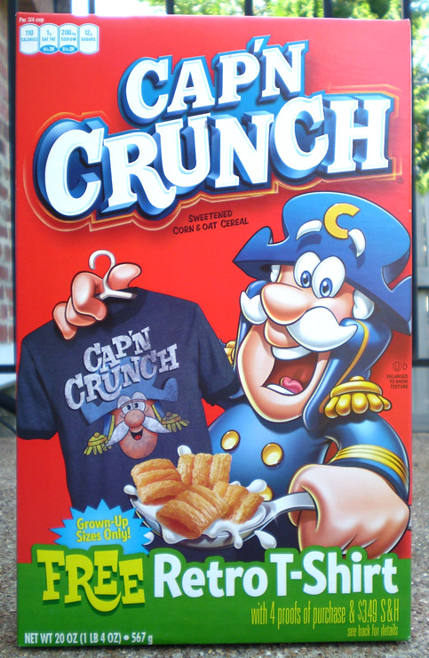 Quaker Cap'N Crunch Retro T-Shirt Cereal Box | Gregg Koenig