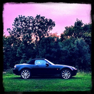 Modern incarnation of a #classic #British #roadster in the wild