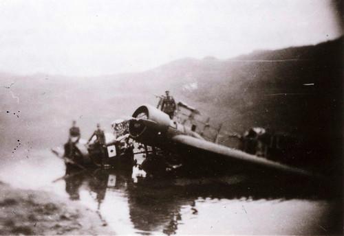Nedskutt fly etter kampene i Narvik
