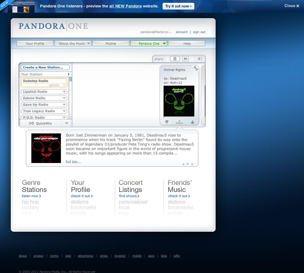 Pandora Radio - Listen to Free Internet Radio, Find New Mu