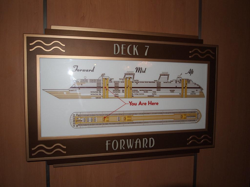 Disney Dream Ship Map on