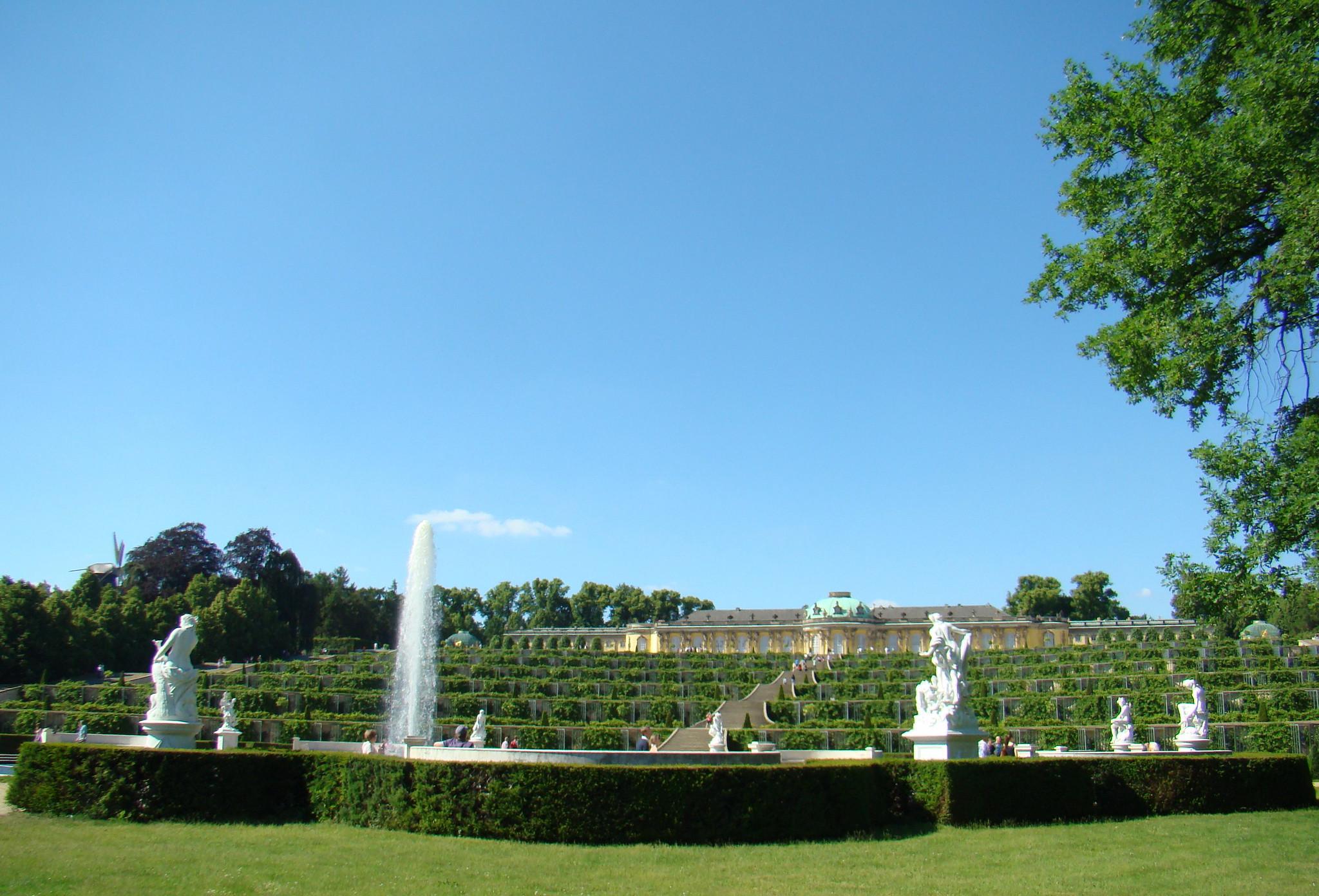 gran fuente viñedos Jardines y Palacio Sanssouci Potsdam Alemania