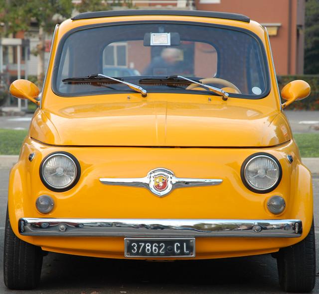Abarth Fiat 500 in Maranello, Italy
