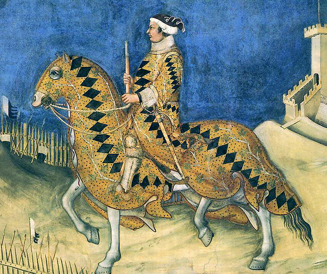 Simone Martini - Guidoriccio da Fogliano all'assedio di Montemassi, detail (1328)