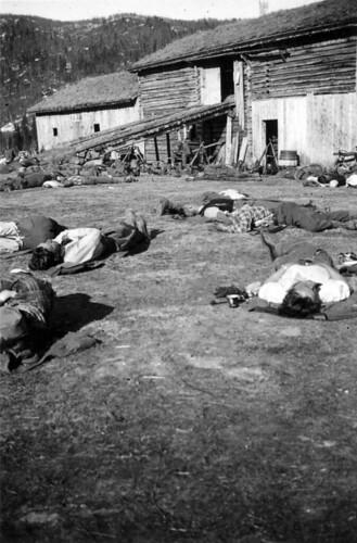 Bergjegere hviler ut på Skredmoen Gård, ved Messingslett bru i Dunderlandsdalen