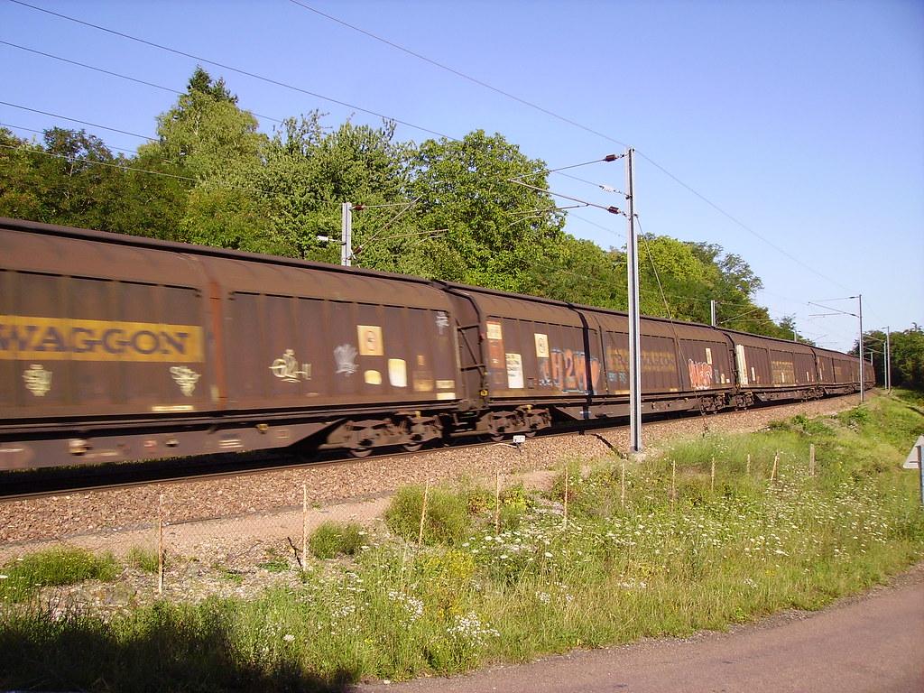 Convoi de marchandises - Transwaggon