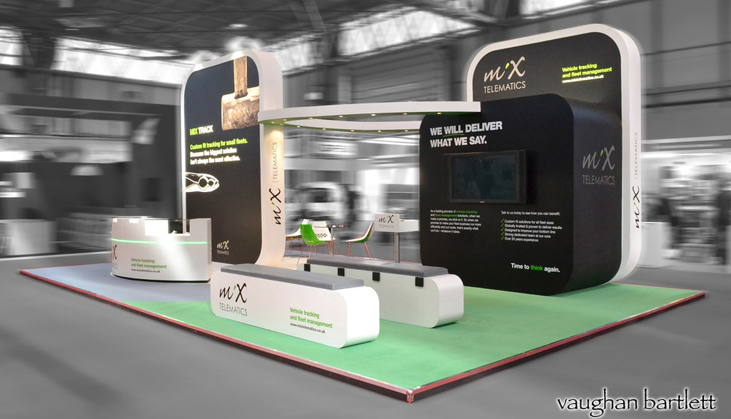 Simple Exhibition Stand Years : Abstract simple exhibition stand with radial blank frieze stock