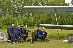 Kurkachi Airfield - An-2 being repaired