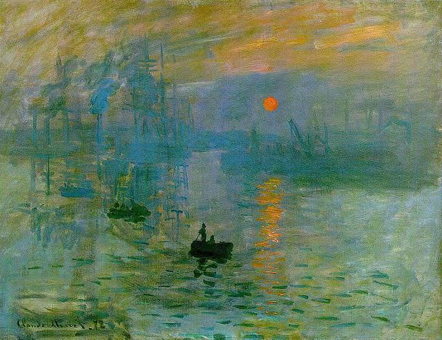 """Claude Monet's SUNRISE """"soleil levant"""" 1872"""