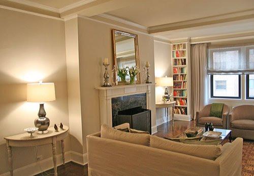 Neutral living room: Benjamin Moore \'Pale Oak\'   Photo from ...