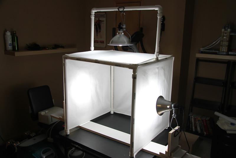Diy Light Box Updated I Added A Upper Bar For Hanging