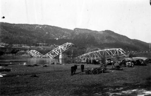 Bergjegere ved Selfors bru, 1940