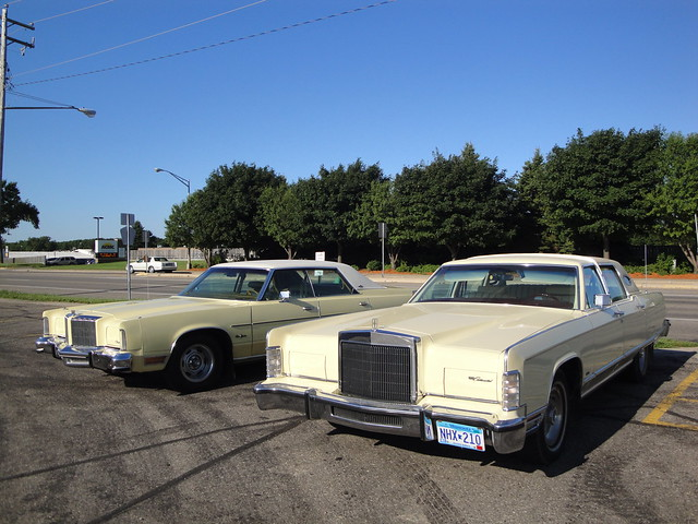 1977 Lincoln Continental Town Car & 1978 Chrysler New Yorker Brougham