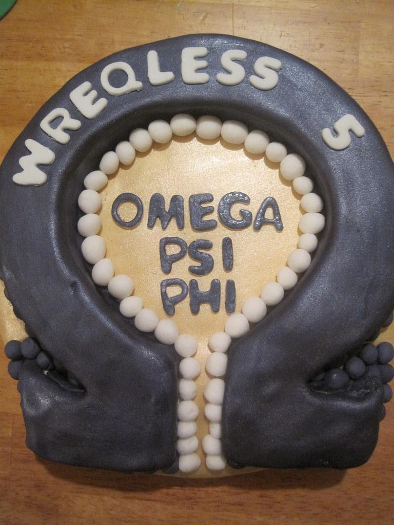 Miraculous Omega Psi Phi Cake Jordycakessweets Flickr Funny Birthday Cards Online Elaedamsfinfo