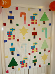 The Easy Peasy Christmas Sampler quilt