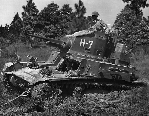 American M2A4 light tank