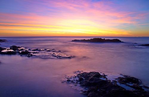 leverdesoleil sunrise poselongue longexposure mer sea mar rocher rock waterscape aube aurore dawn nikon d7000 outdoor landscape sky cielo cloud nubes