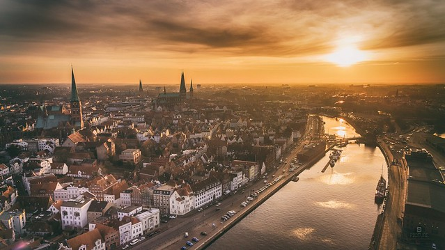 Lübeck - City in Sunset