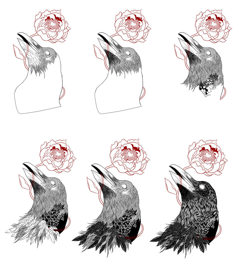 Raven & Flower