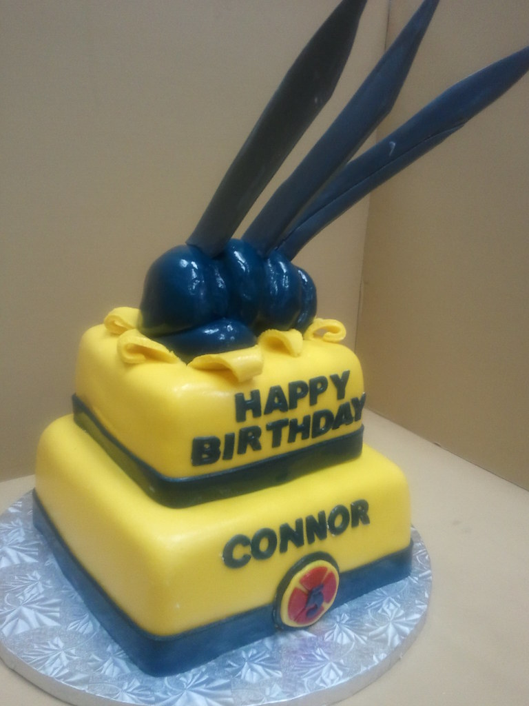 Cool Wolverine Birthday Cake Drago Sisters Bakery Flickr Personalised Birthday Cards Veneteletsinfo