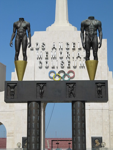 Olympic Gateway statues Los Angeles Coliseum | by Mr. Littlehand
