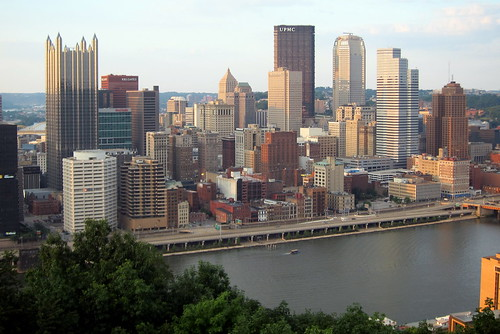Pittsburgh Skyline From Mount Washington Four Of The