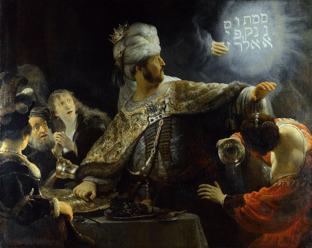 Rembrandt - Belshazzar's Feast [c.1636-38]