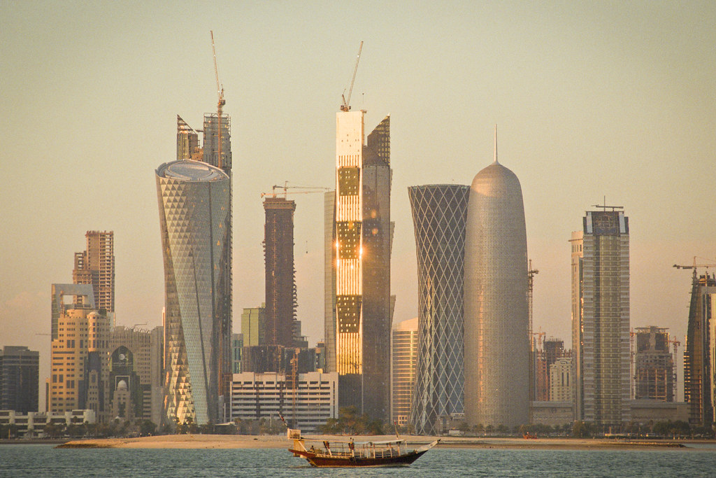 Doha New Towers Coolscan 9000 ED Revisited | Nikon F4 with K… | Flickr
