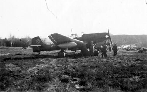 Tysk Junkers Ju 87 kampfly på Værnes