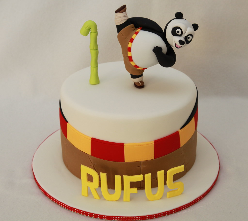 Enjoyable Rufus Kung Fu Panda Cake My First Ever Kung Fu Panda Cake Flickr Funny Birthday Cards Online Alyptdamsfinfo