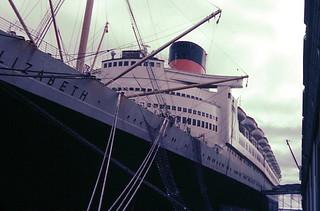 RMS Queen Elizabeth, Halifax NS, 1957.