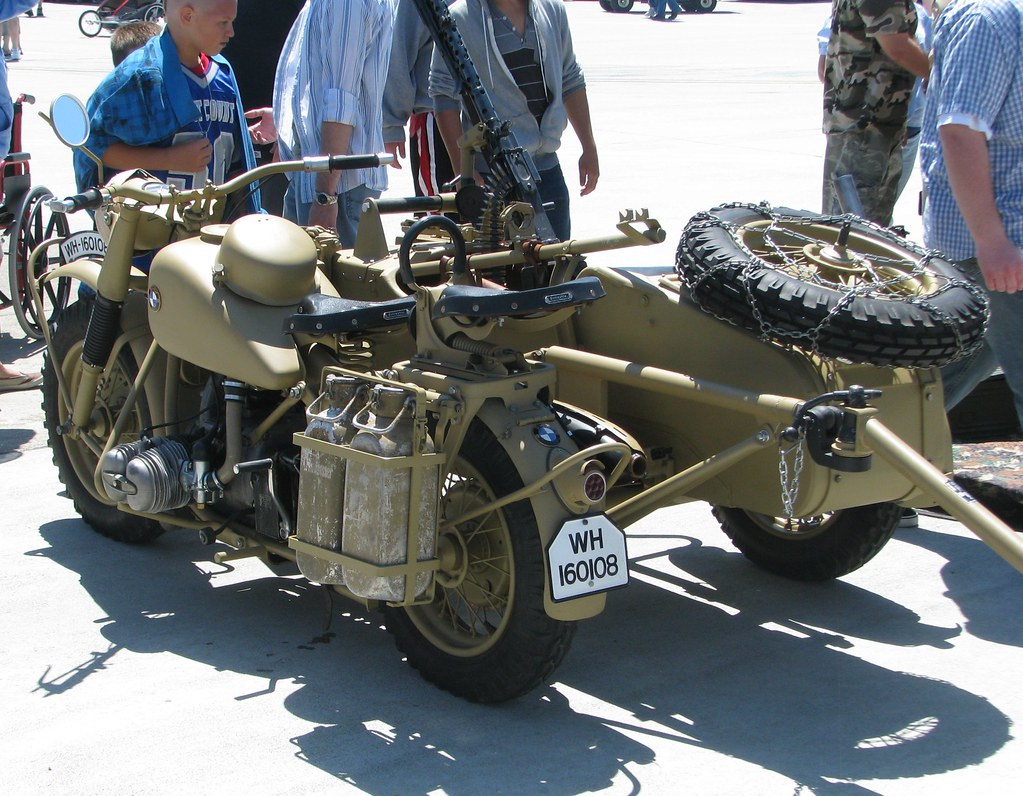 1943 Bmw R75 Military Motorcycle With Sidecar Amp Trailers 0