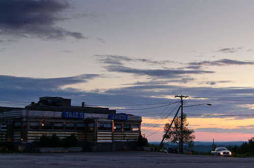 travel camping sunset vacation sky clouds restaurant diner telephonepoles d300
