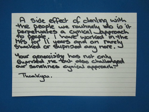 Messages of thanks from the police