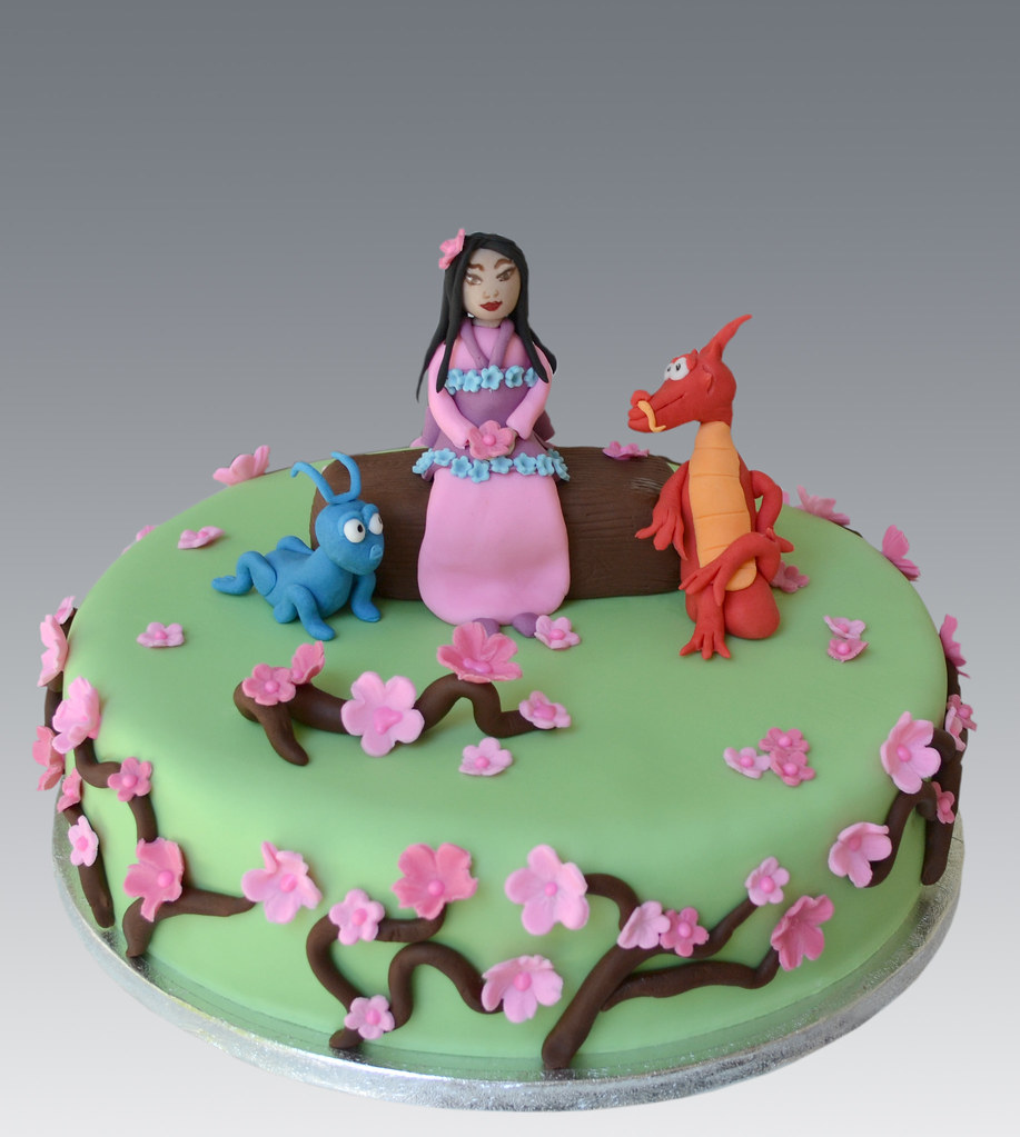 Sensational Mulan Cake Angeliki Kalouta Flickr Funny Birthday Cards Online Inifodamsfinfo