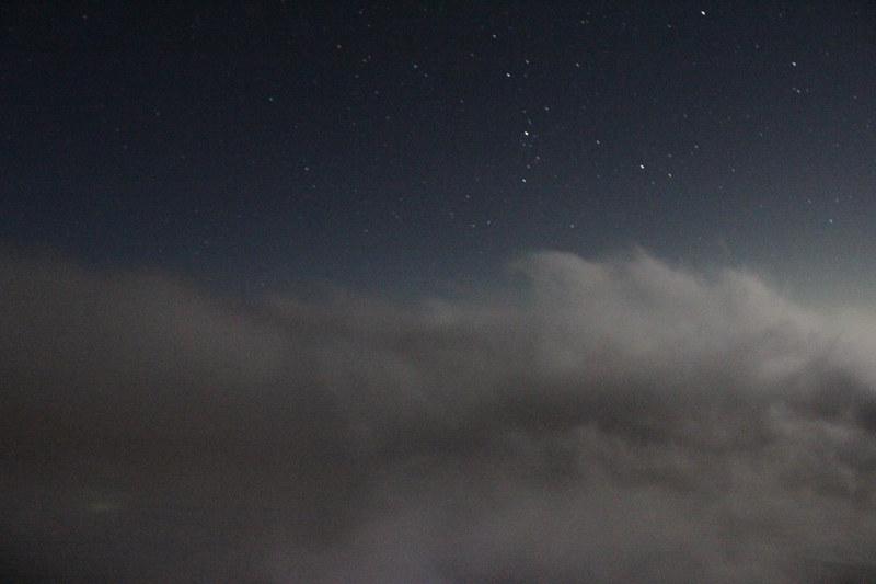 富士山の星空