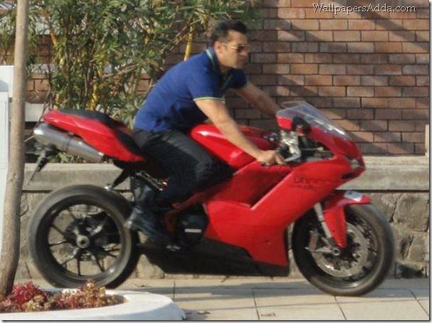 Salman Khan Bodyguard Riding Dports Bike Ducati Nadeem
