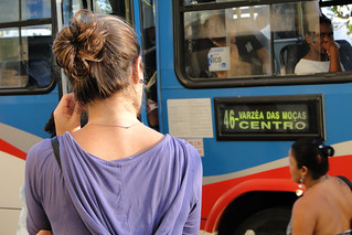 Woman Waits for Bus - Niteroi - Rio de Janeiro - Brazil | by Adam Jones, Ph.D. - Global Photo Archive