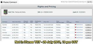 Not in iTunes YET - 29 July 2011, 10 pm CST | by Wesley Fryer